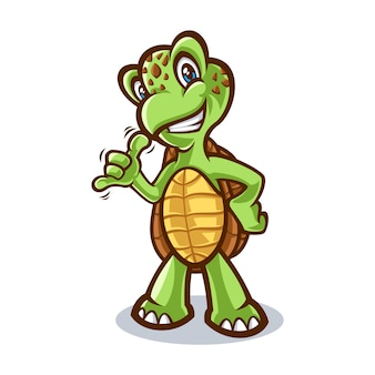 Ilustracja kreskówka żółw