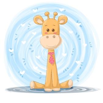 Ilustracja kreskówka żyrafa