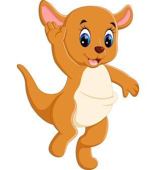 Ilustracja kreskówki cute baby kangura