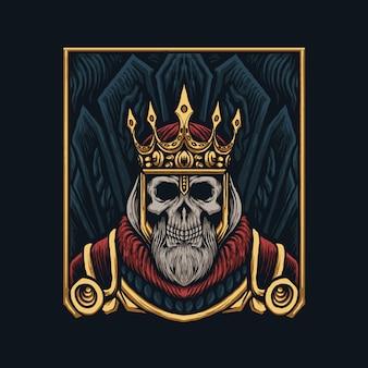 Ilustracja król czaszki