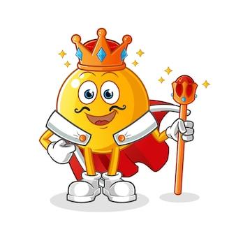 Ilustracja król emotikon