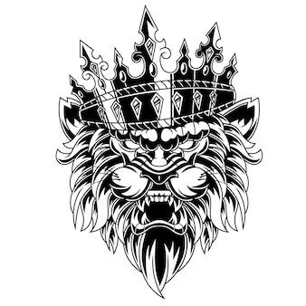 Ilustracja króla lwa