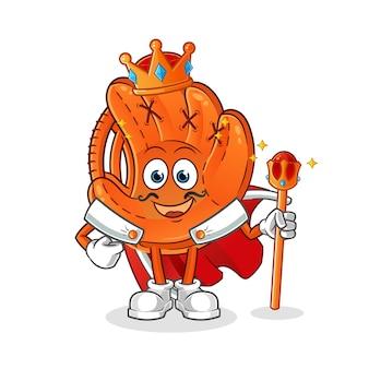 Ilustracja króla rękawic baseballowych