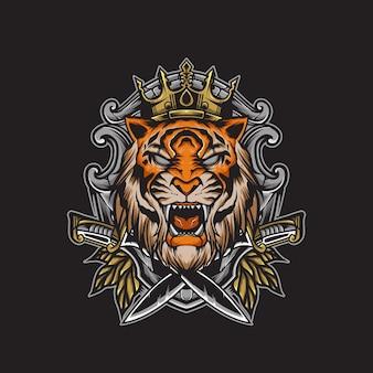 Ilustracja króla tygrysa
