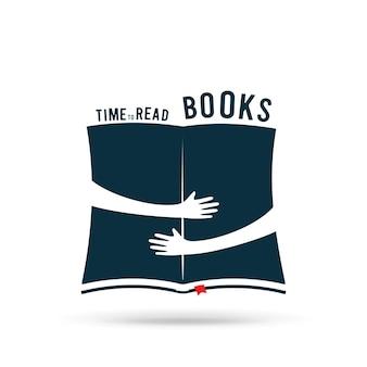 Ilustracja książki z uściśniętymi rękami