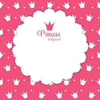 Ilustracja księżniczka tło korony.