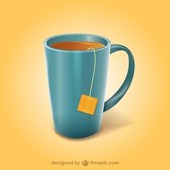 Ilustracja kubek herbaty