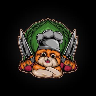 Ilustracja kucharz