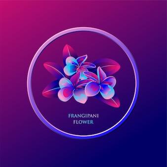 Ilustracja kwiat frangipani