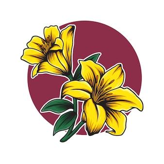 Ilustracja kwiat lilii