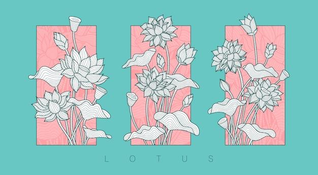 Ilustracja kwiat lotosu