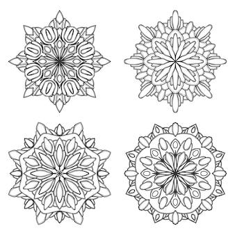 Ilustracja kwiat mandali