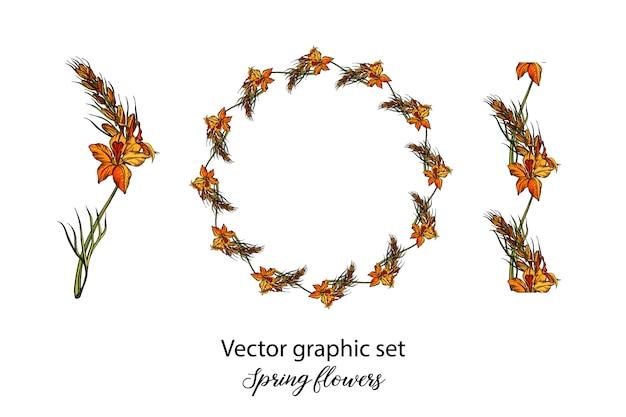 Ilustracja kwiat wiosny