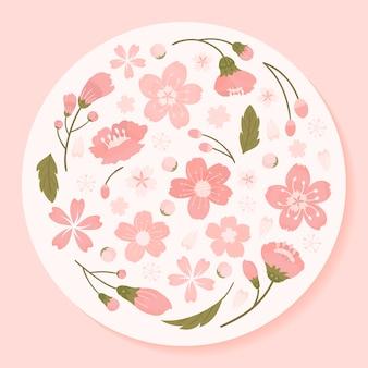 Ilustracja kwiat wiśni