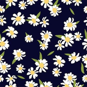 Ilustracja kwiatowy abstrakcyjny wzór bez szwu