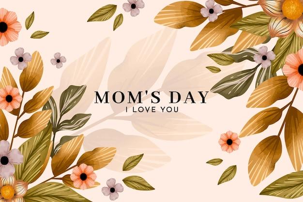 Ilustracja kwiatowy dzień matki