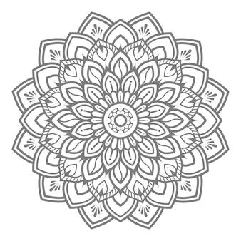 Ilustracja kwiatowy mandali do koncepcji dekoracyjnej