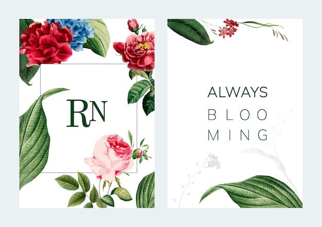 Ilustracja kwiatowy rama ilustracja