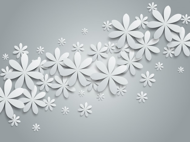 Ilustracja kwiatowy tło papieru.