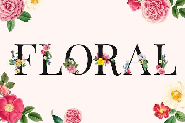 Ilustracja kwiatowy tło