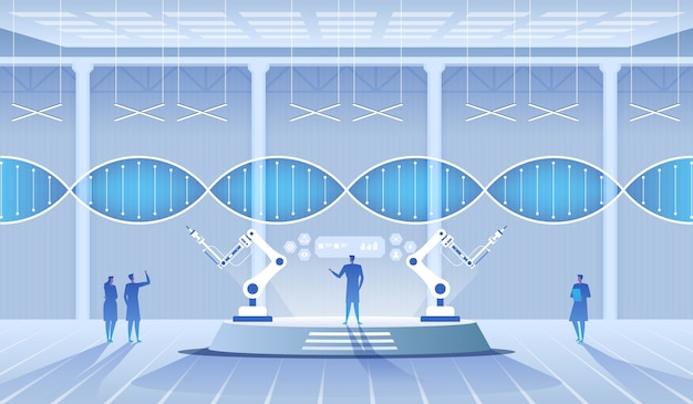 Ilustracja laboratorium naukowego