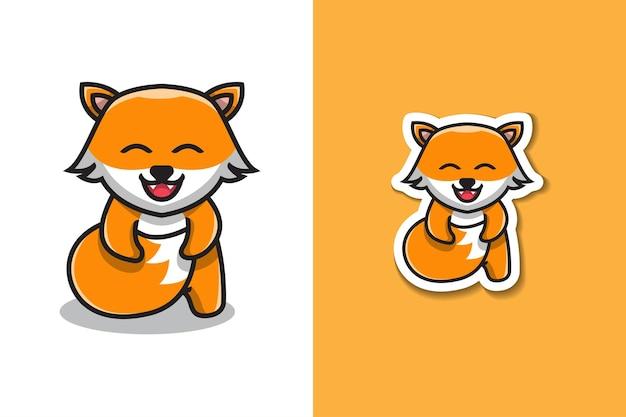 Ilustracja ładny foxy