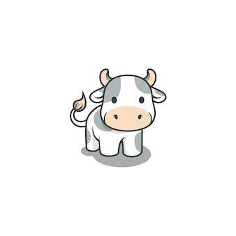 Ilustracja ładny krowa na białym tle