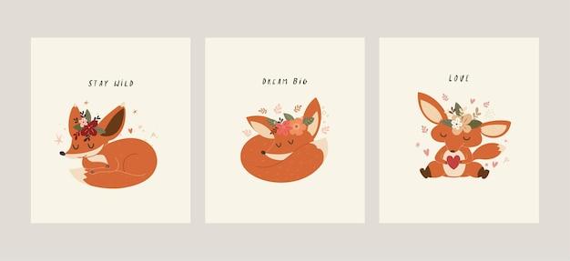 Ilustracja ładny lis