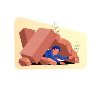 Ilustracja łagodzenia skutków katastrofy trzęsienia ziemi