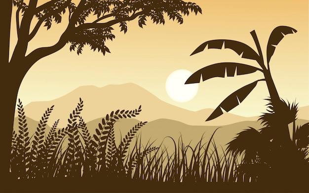 Ilustracja lasów tropikalnych