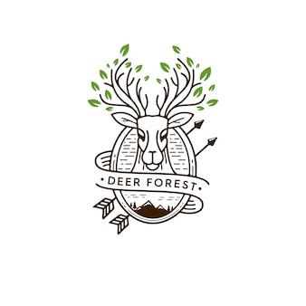 Ilustracja lasu deer