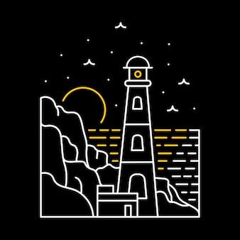 Ilustracja latarni morskiej