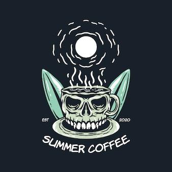 Ilustracja lato kawy