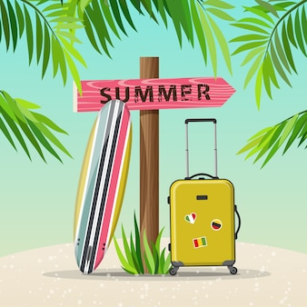 Ilustracja lato wakacje podróży