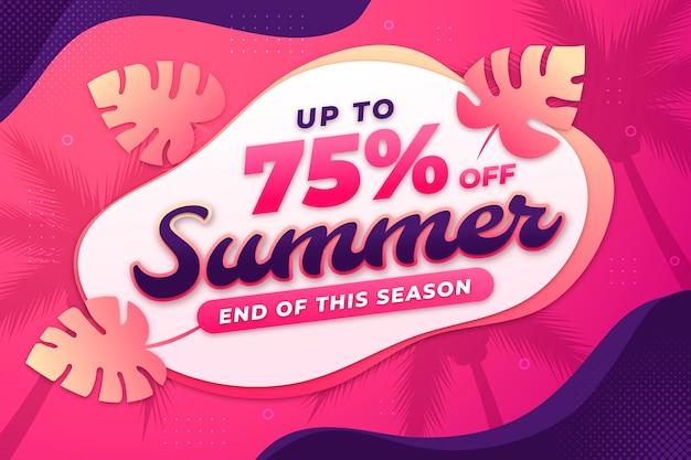 Ilustracja letniej sprzedaży gradientu