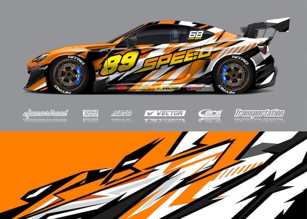 Ilustracja liberii samochodów wyścigowych