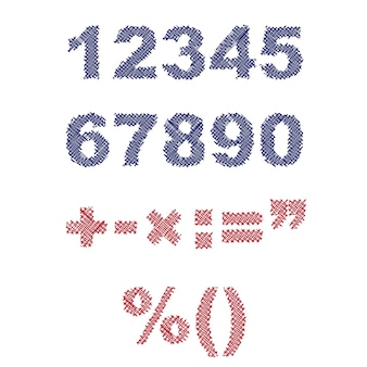 Ilustracja liczb rysowanych piórem szkicu