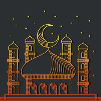 Ilustracja linia line meczet