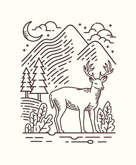 Ilustracja linia piękna natura