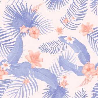 Ilustracja liści tropikalnych