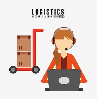 Ilustracja logistyki wysyłki