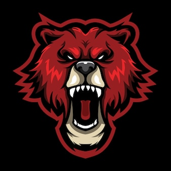 Ilustracja logo bear roar esport