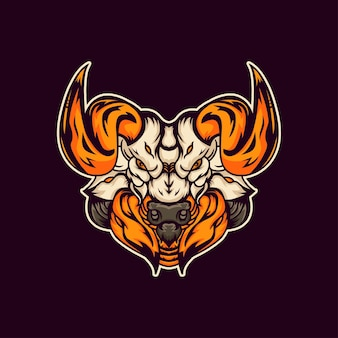 Ilustracja logo byka