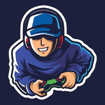 Ilustracja logo cool gamer esport