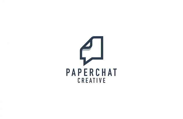 Ilustracja logo czat papieru