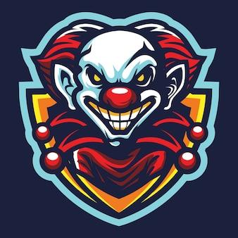 Ilustracja logo diabła clown esport