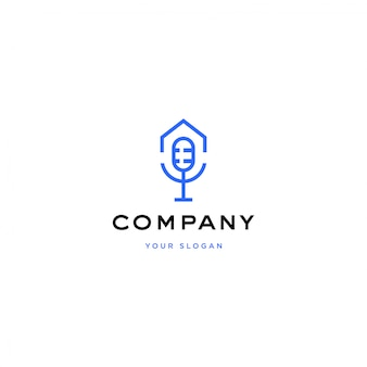 Ilustracja logo dom podcast