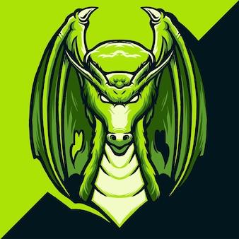 Ilustracja logo dragon esport