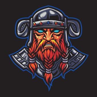 Ilustracja logo dread viking esport