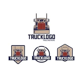 Ilustracja logo dużej ciężarówki